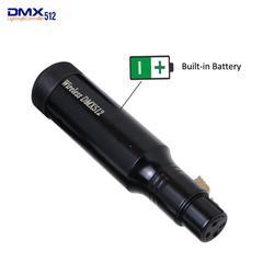 Nova bateria Embutida Recarregável Receptor Sem Fio de 2.4GHz DMX512 XLR Receptor para Iluminação Partido Stage PAR