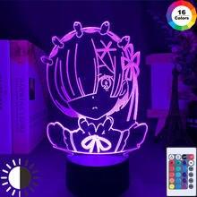 Anime dos desenhos animados luz da noite led sensor de toque cor mudando crianças criança menina nightlight presentes decoração do quarto lâmpada mesa 3d manga presente