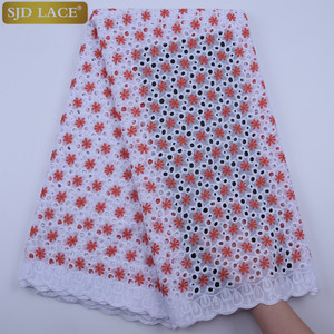 New Arrivals 100%Cotton Nigerian African Dry Lace Fabric Eyelet Swiss Voile Lace In Switzerland High Quality Party Dress A1751(China)