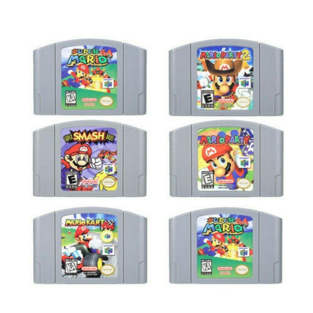 Картриджи для Nintendo 64 видеоигр, игровая Карта Super ударов Bros Mario Party 2 Marlo Kart, версия для США