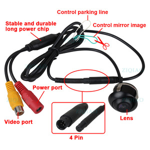 Image 2 - ZIQIAO Car Front Rear View Parking Camera Night Vision HD Side View Reversing Camera HSB012