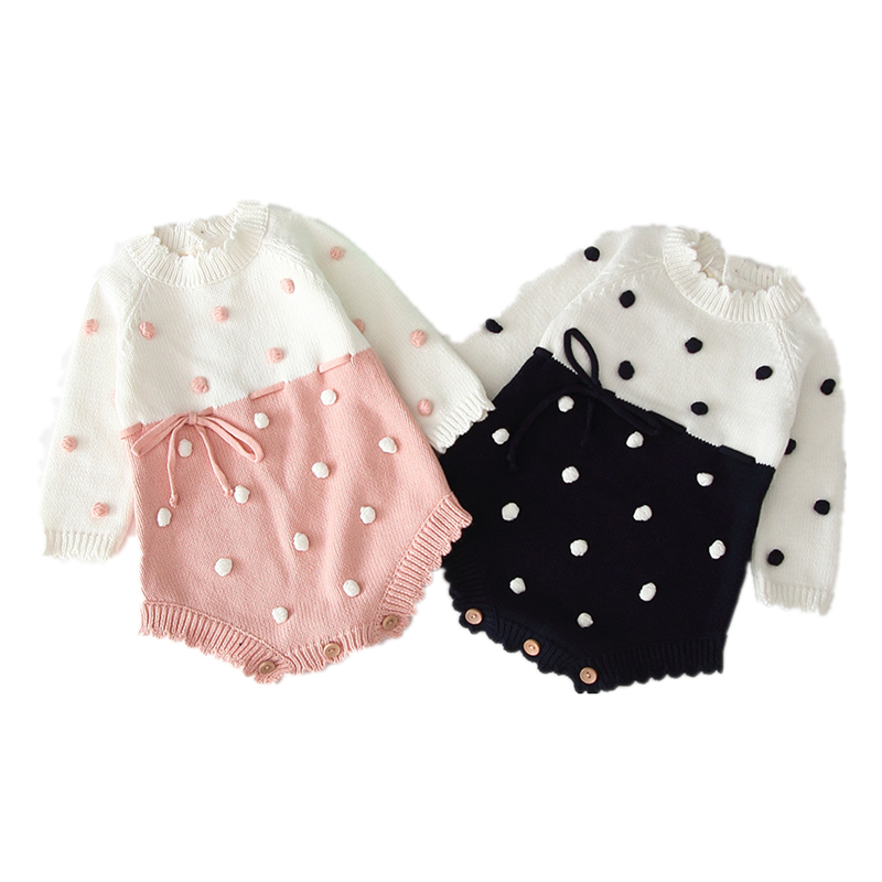 Baby Girl s knit Rompers Long Sleeve Wool Knitted Rompers Baby Princess Triangle Jumpsuit Toddler Kid Baby Girl's knit Rompers Long Sleeve Wool Knitted Rompers Baby Princess Triangle Jumpsuit Toddler Kid's Autumn Winter Clothing