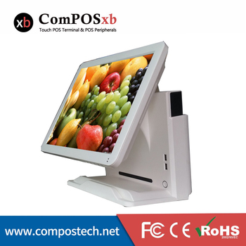 POS terminal 15 inch resistive touch screen POS system with MSR/ Restaurant cash register