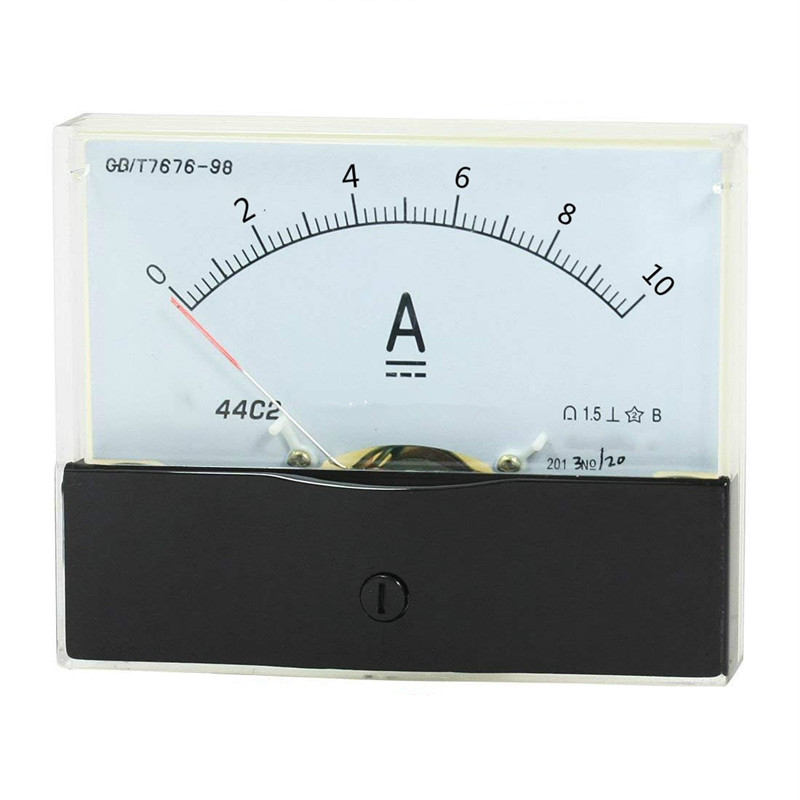 1PC 44C2 DC 100uA 100mA 5A 10A 15A Ammeter Analog Current Test Meter 100x80mm