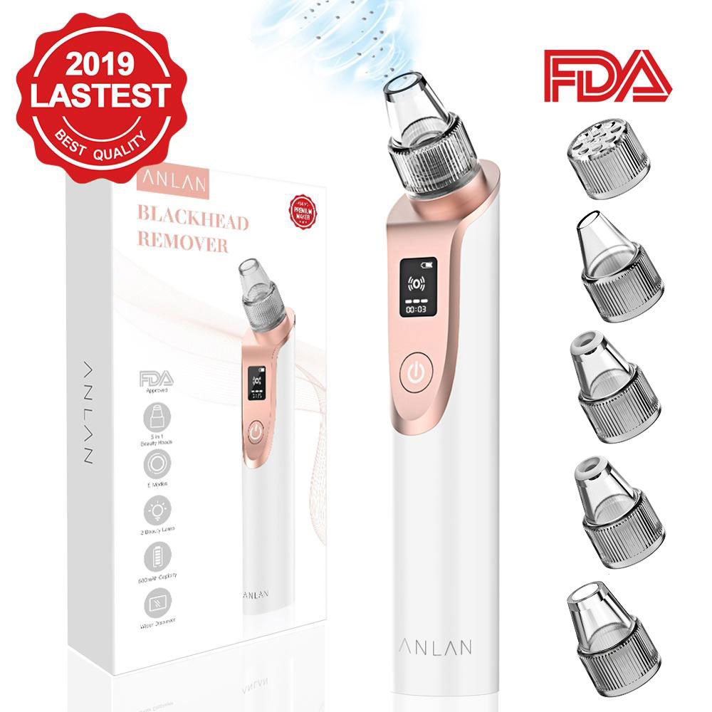 ANLAN Blackhead Remover Skin Care Vacuum Pore Acne Pimple Removal Facial Dermabrasion NoseFace Deep Cleansing Machine Clean Tool