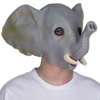 Latex Rubber Elephant Mask Celebrations Carnival Party Fancy Dress Costume  Latex Party Animal Mask Kids Party Halloween Mask