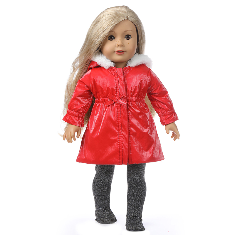 Baby Doll Jacket Hooded Coat For 18 Inch American Doll Clothes Set Sport Suit
