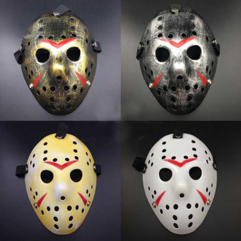 Halloween Mask Top Penjual. Friday The 13th. Menakutkan Topeng Hoki Jason Vs Freddy Kostum Aksesori