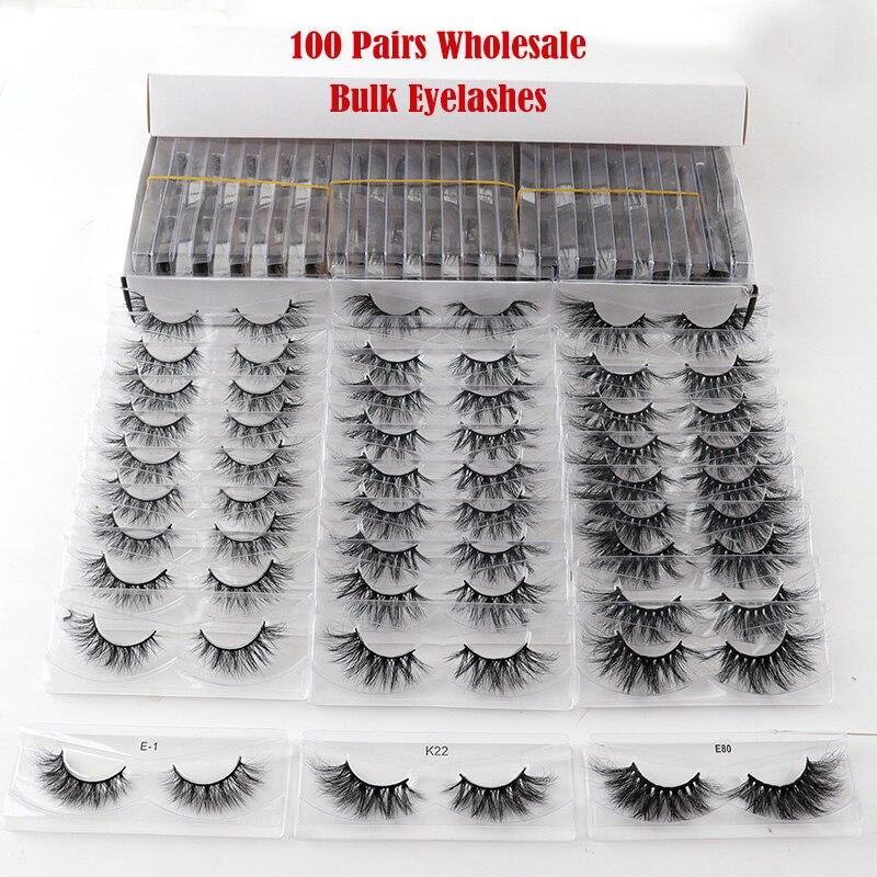 100 pares lote vison cilios 3d vison cilios criss cruz fofo cilios posticos populares lash cilios