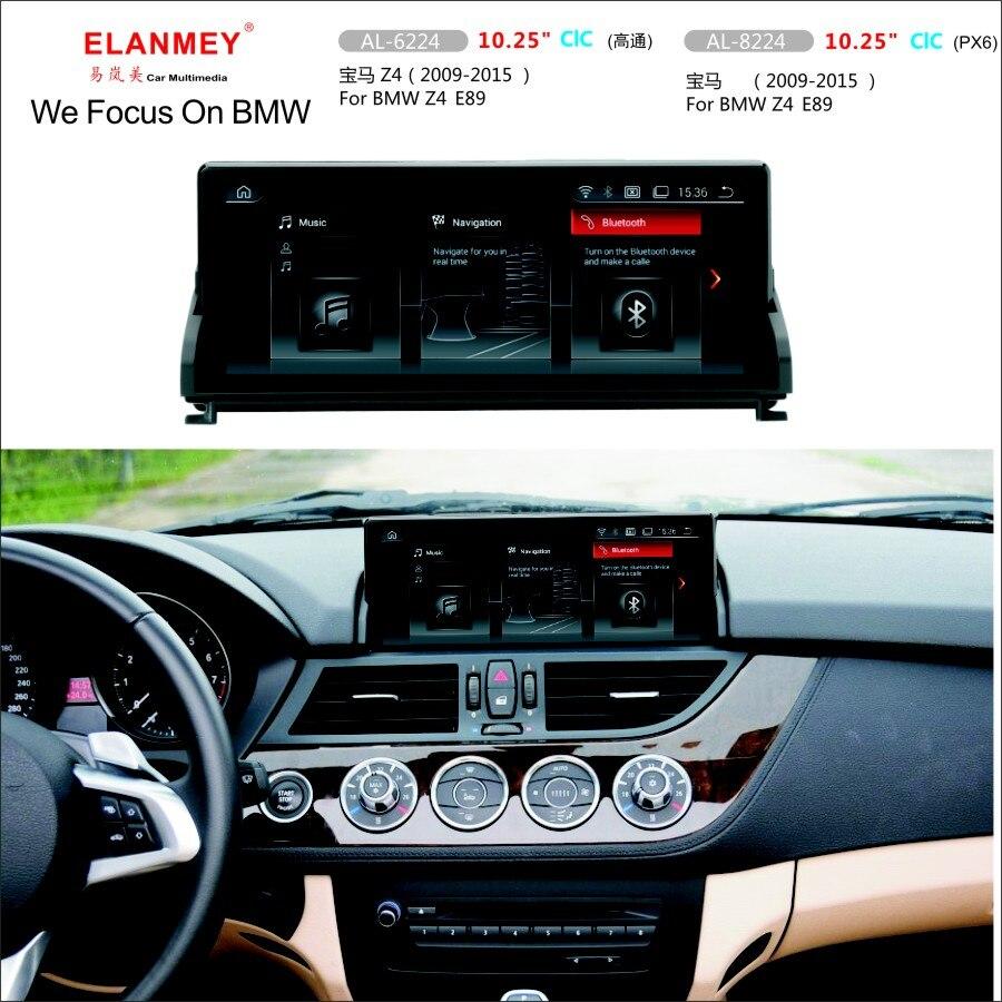 Elanmey coche Multimedia para BMW Z4 E89 2009-2018 CIC unidad de cabeza del sistema Android 9,0 pantalla táctil radio navegación GPS grabadora de cinta