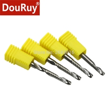 5PCS 3A class shank D4mm one flute spiral bits carbide end mill CNC for acrylic router bits PVC cutter tools engraving machine plastic foam composite board wood MDF high sharp end mills 6 22 90 3d v shape woodworking router bits for mdf plywood cork plastic acrylic pvc