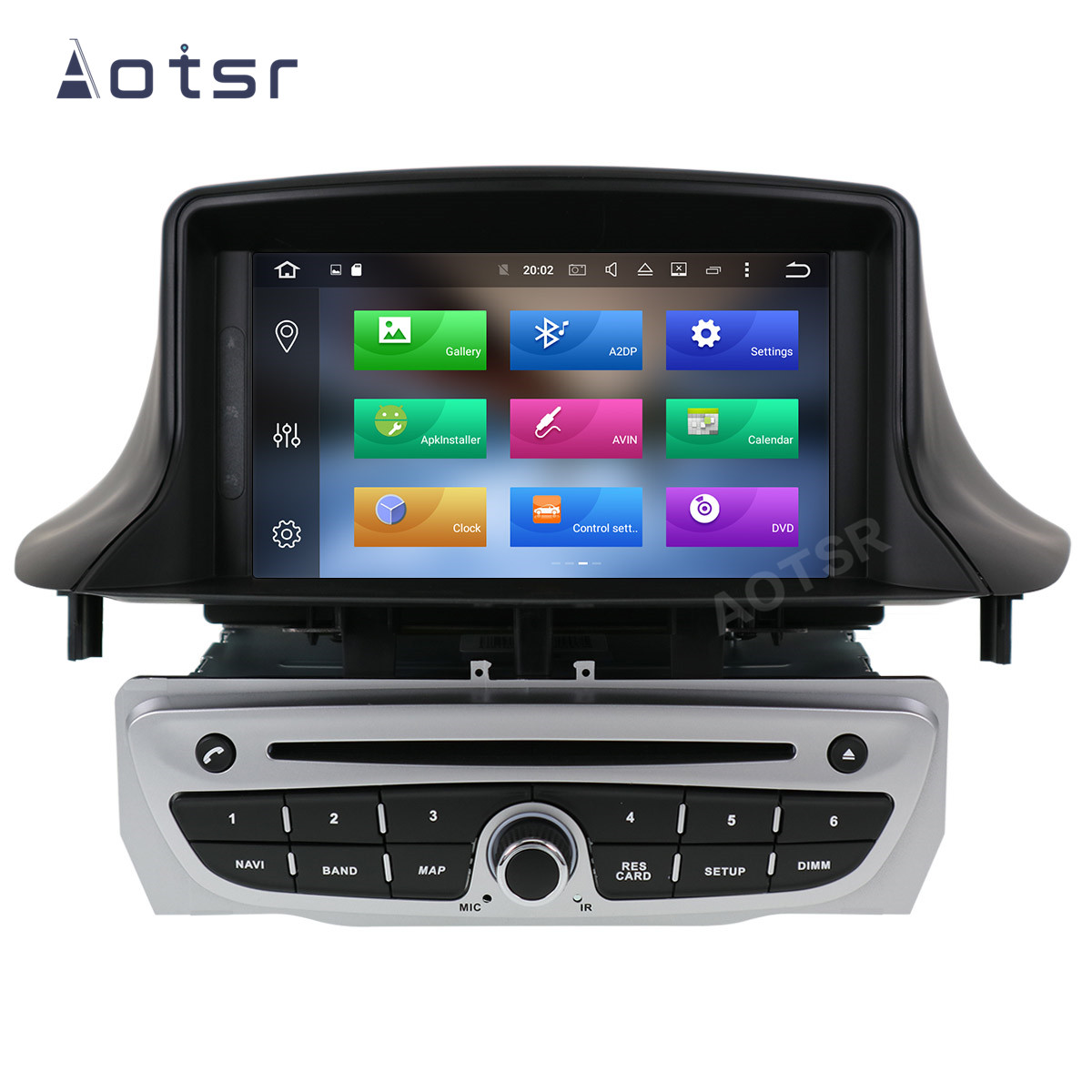 AOTSR Car Radio Auto Android 10 For Renault <font><b>Megane</b></font> <font><b>3</b></font> Fluence 2009 - 2015 Multimedia Player Stereo <font><b>GPS</b></font> Navigation DSP AutoRadio image