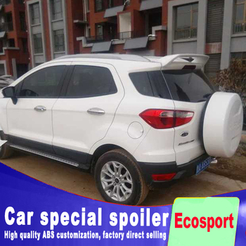 цена на High hardness ABS rear window spoiler for ford ecosport 2012 to 2018 high quality material primer or black white paint spoiler