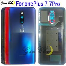 NEW For OnePlus 7 Battery Cover Door Rear Glass For Oneplus 7 Pro Back Battery Cover 1+7 Housing Case with glue GM1915 case soft cover shell for oneplus 7 7 pro 6 6t 5t silicone phone case for oneplus 7 7pro black case camouflage camo military army