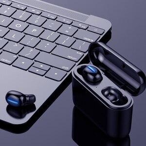 Image 1 - Verdadeiro bluetooth 5.0 fone de ouvido hbq tws sem fio headphons esporte handsfree fones 3d estéreo gaming fone com microfone caixa carregamento