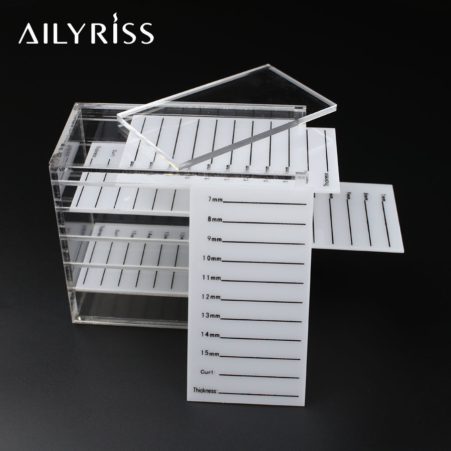 Lash Glue Plate Pallet Holder Case For Eyelashes Extension Adhesive Eyelash Transparent Container Display Stand