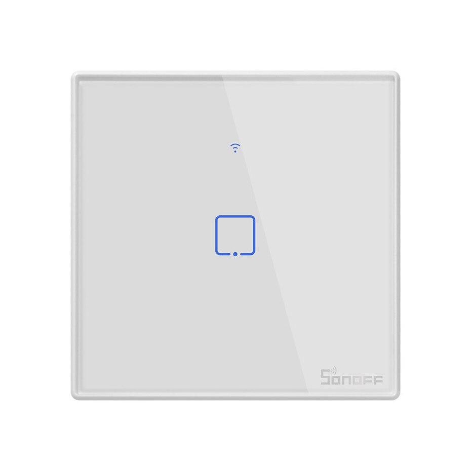 Image 2 - Nowy Sonoff T2 UK inteligentne wifi RF433/aplikacja ewelink/sterowanie dotykowe przełącznik ścienny 1/2/3 Gang, aktualizacja z Sonoff T1, dla Alexatouch control switchtouch wall light switchswitch 1 gang -
