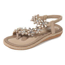 Sandals Women's 2020 New Style Summer Man-made Diamond Lace Bow Dedicated Large Size