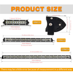 "Image 5 - CO LIGHT Super Slim 12D 8"" 20"" 32"" LED Bar Spot Flood Beam LED Light Bar for Tractor Boat Offroad 4WD 4x4 Trucks SUV ATV 12V 24V"