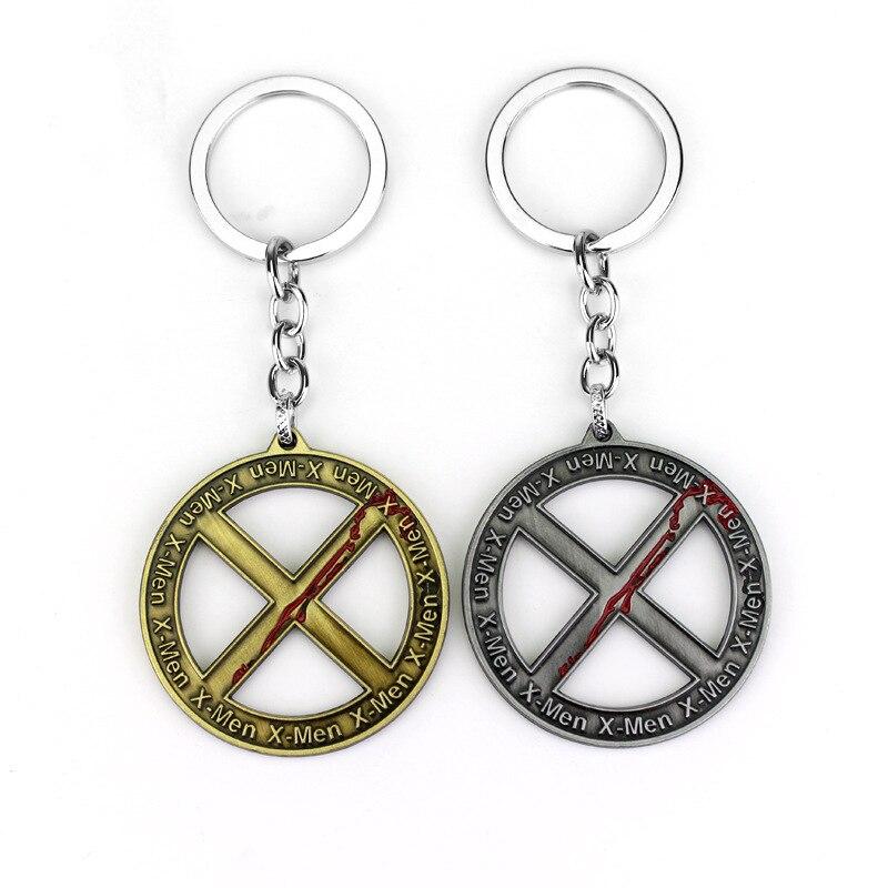 X-men apocalypse inversion futur logo lettre creative rétro porte-clés pendentif vente chaude film périphérique métal porte-clés