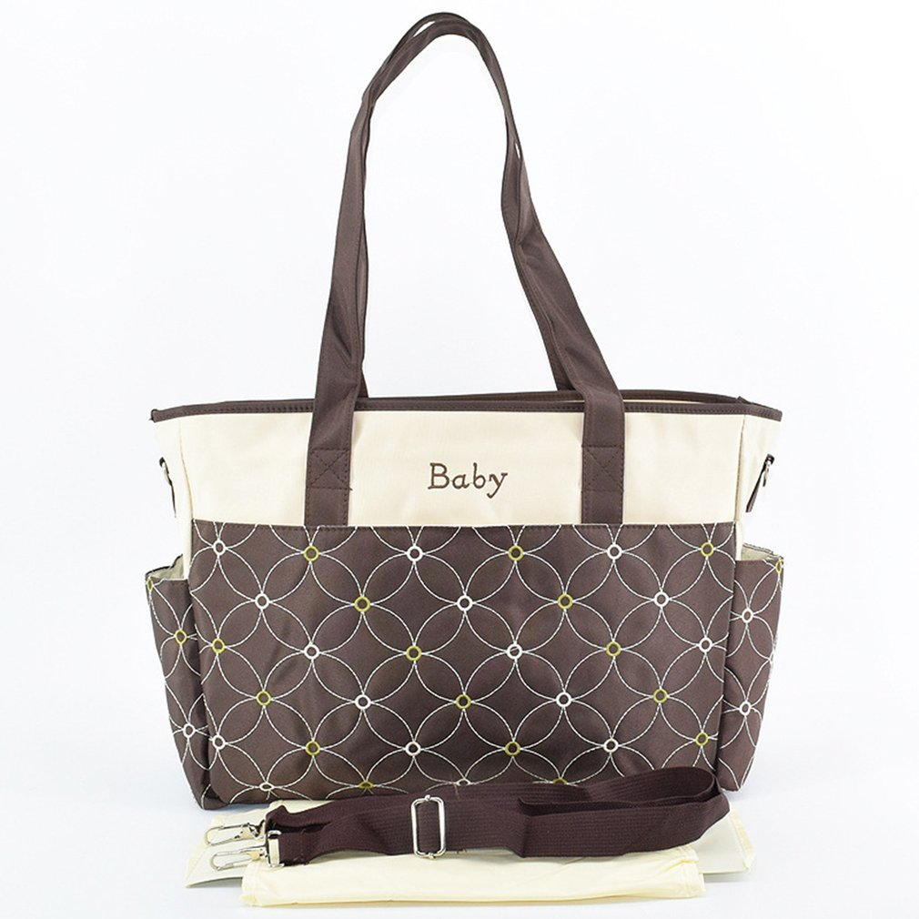Waterproof Diaper Bag Removable Shoulder Strap Handbag 3D Embroidery Maternity Mother Large Capacity Mummy Bag For Baby Bags Hot