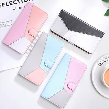PU Leather Flip Case For Huawei P40 P30 P20 Pro Mate 30 Lite P Smart Plus Y5 Prime 2018 Y6 Y7 Y5 2019 Honor 8X Mixed Color Case image