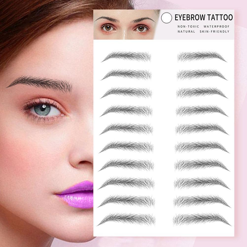Natural Tattoo Sticker Eyebrow 6D Hair Like Eyebrows Makeup Waterproof Long Lasting Fake Eyebrow Lamination Cosmetics Tool