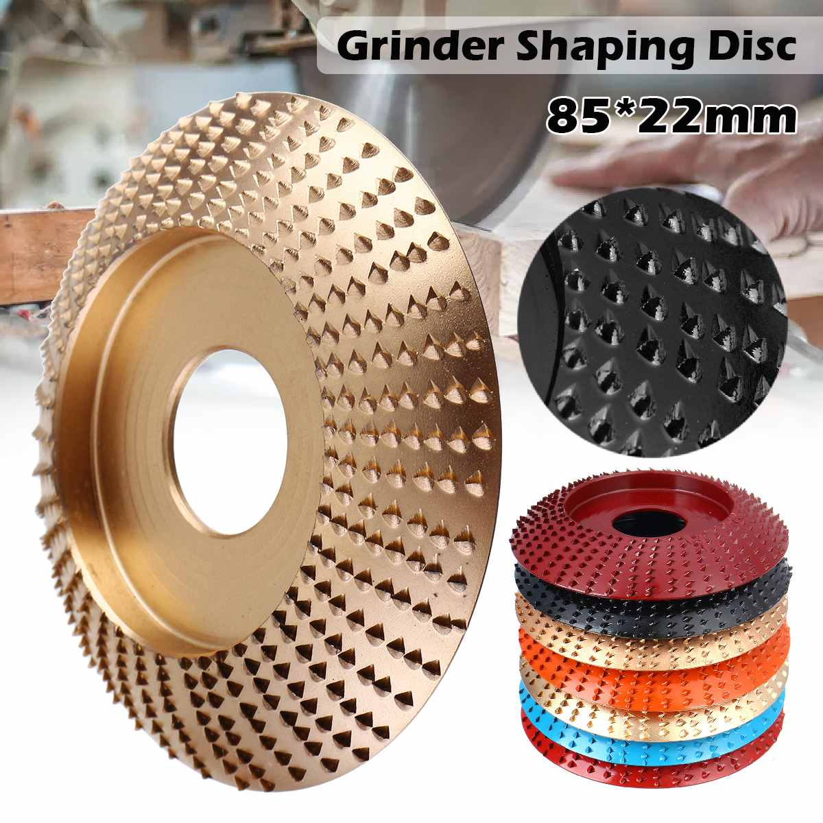 Wood Grinding Wheel Rotary Disc Sanding Wood Carving Tool Abrasive Disc Tools For Angle Grinder 22mm Bore