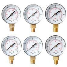 Pressure-Gauge 60-100-150 300-Psi 52mm BSPT Bar Vertical-15-30 Bottom-Mount-D2td 1/4