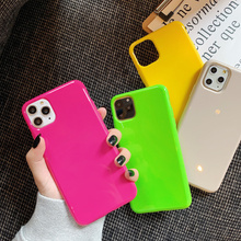 Fashion Simple Neon Fluorescent Color Phone Cases For