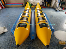 Sell fun crazy water drag games, 8-seat inflatable banana boat, flying fish boat.