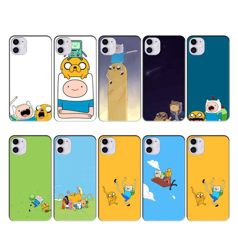American Cartoon Adventure Time Case Coque Fundas for Iphone 11 PRO MAX X XS XR 4S 5S 6S 7 8 PLUS SE 2020 Cases Cover