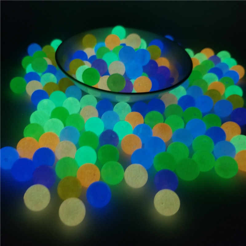 200Pcs 6-12mm 14 Kleuren Glow In The Dark Losse Kralen Vrouw Mannen Lichtgevende Ketting DIY Sieraden maken Acryl Kralen Gat 1.8-2mm