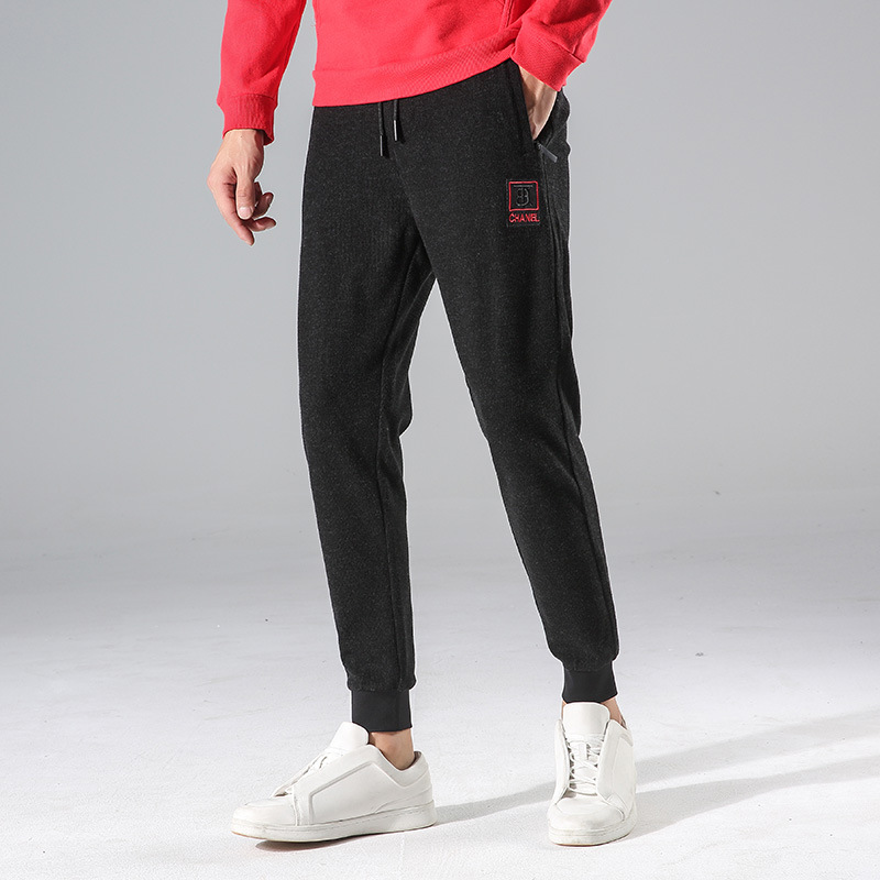 2019 Autumn MEN'S Casual Pants Men'S Wear Korean-style Slim Fit Men's Trend Skinny Pants Teenager Knit Pants