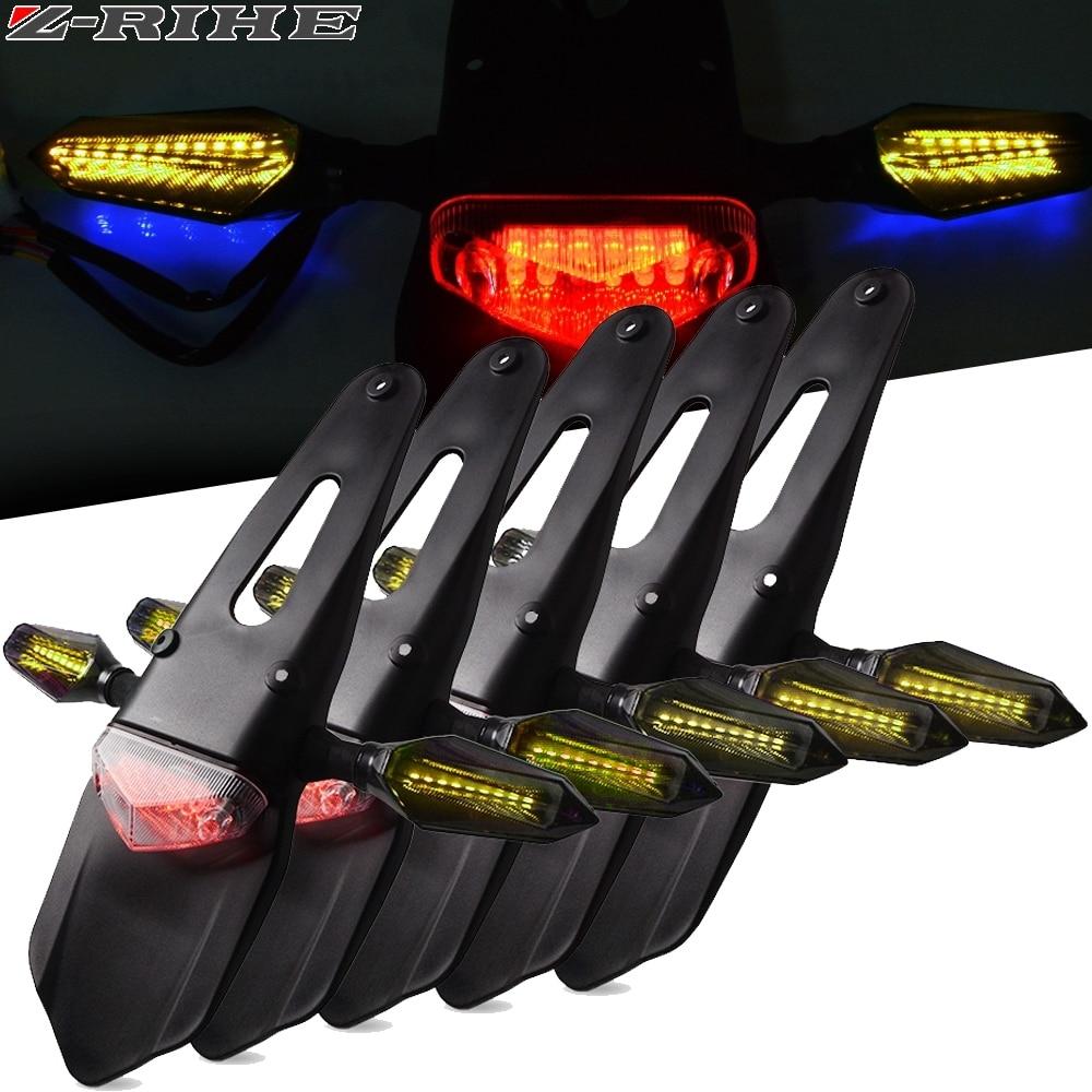 Motorcycle Stop Brake Light Moto Taillight Fender LED Rear Light For Beta 400/450/525 RR BMW G450 For Honda XR400 CRF250 CRM250R