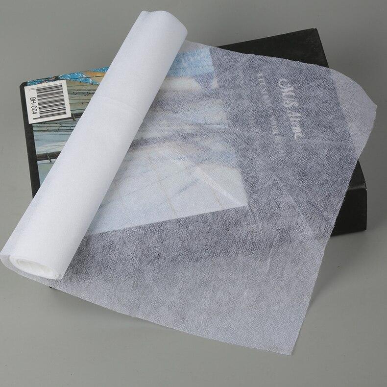 Não-tecido fusível peso leve interlining tecido costura acessórios de vestuário ferro no forro adesivo tecido de interfaces 5 m/lote