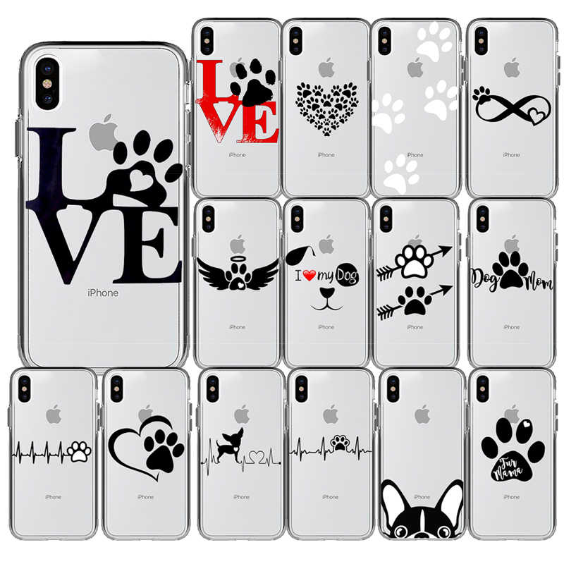 Luxe Hart Hond Puppy Liefde Silicone Cover Phone Case voor iPhone 11 Pro Max X 5S 6 6S 7 8 Plus XR XS MAX