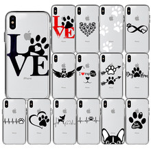 Luxury Heart Dog Puppy Love ซิลิโคนสำหรับ iPhone 11 Pro Max X 5S 6 6S 7 8 Plus XR XS MAX(China)