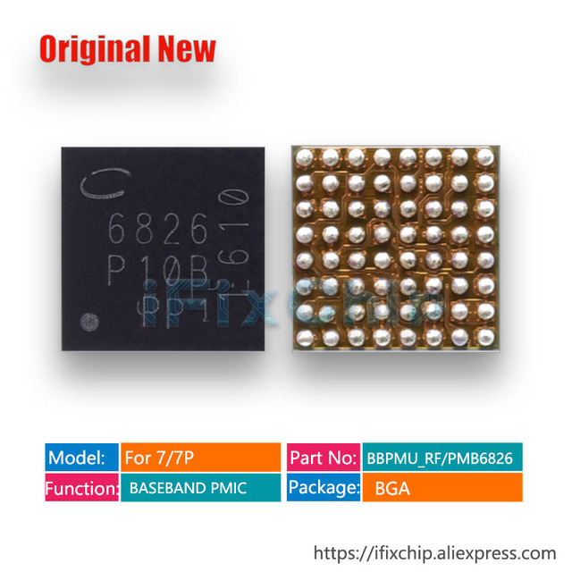 10pcs/lot PMB6826/BBPMU_RF/6826 for iphone 7 plus/7 plus/7 BASEBAND PMIC Power IC Chip