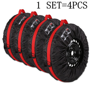 Image 3 - 4Pcs/Lot Car Spare Tire Cover Case Polyester Auto Wheel Tires Storage Bags Vehicle Tyre Accessories Dust proof Protector Styling