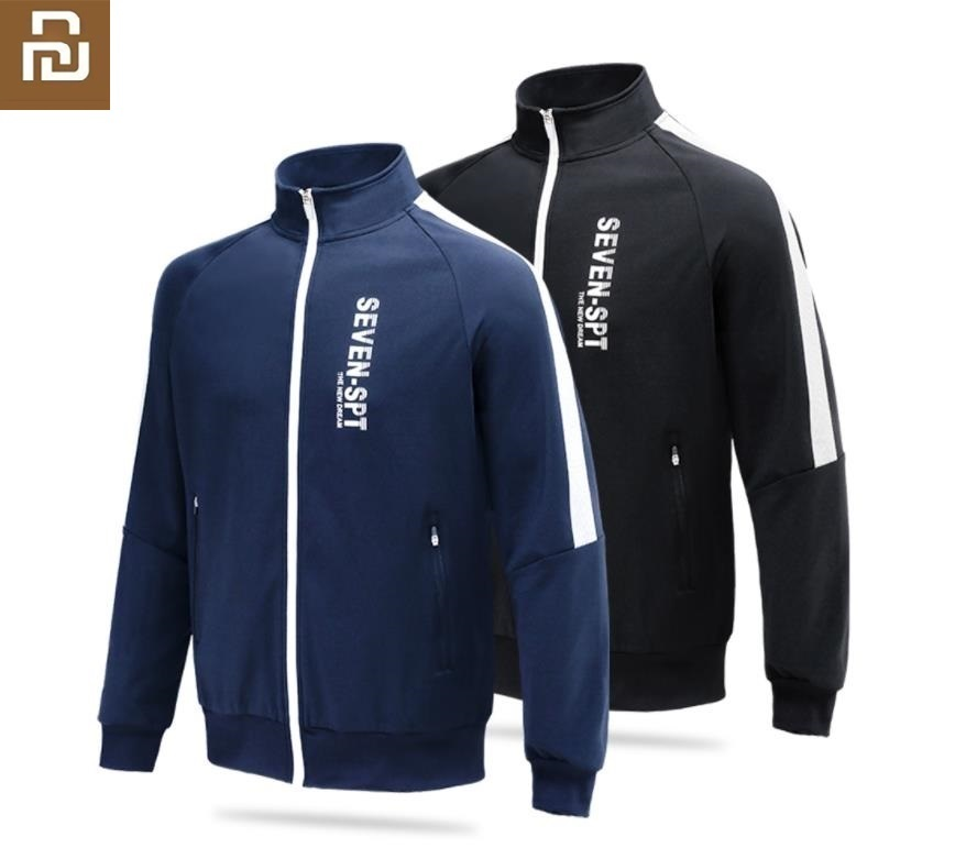Youpin Fashion Men's High Quality Cardigan Zip Sweatshirt Silky Sports Jacket Outdoor Fitness Running Coat