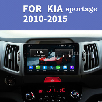 2Din Android 9.0 auto Radio Multimedia Video Player GPS navigation for KIA Sportage 3 2010 2011 2012-2016 car radio receiver image