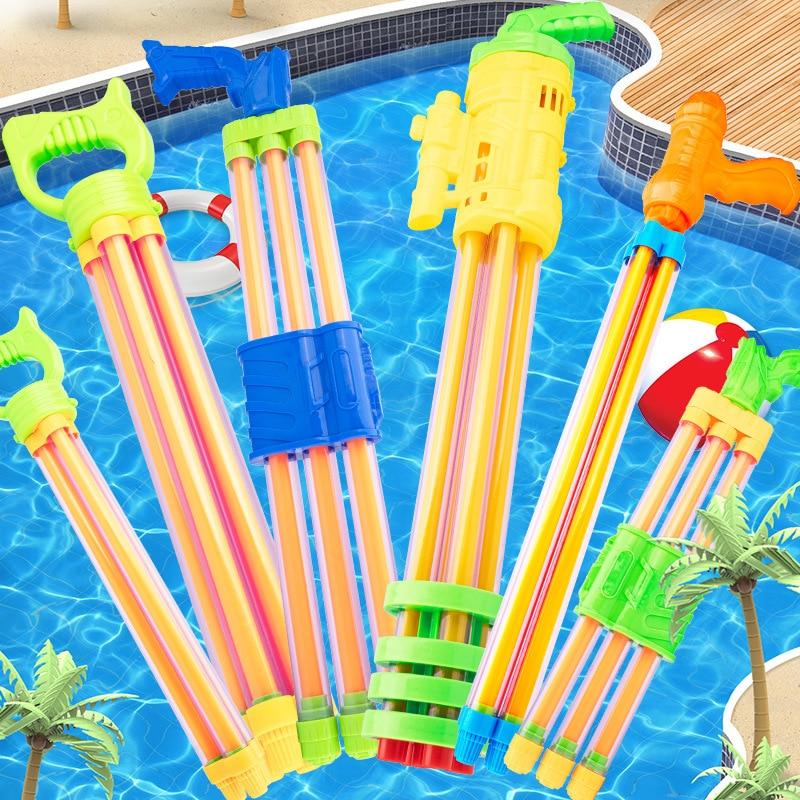 2021 Summer Blaster Kids Child Squirt Beach Toys Double Pipe Spray Water Gun Gift Swimming Pool Toy Hot Spring Water Gun HC0269