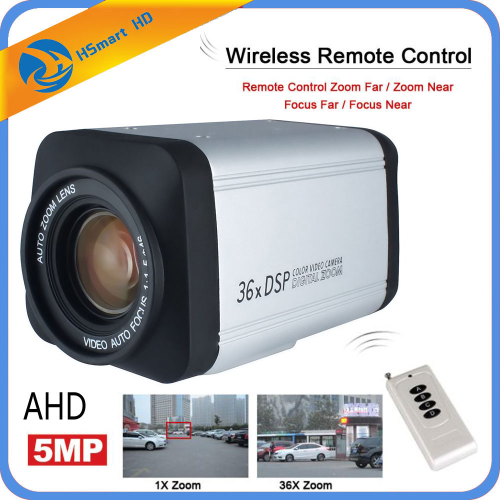 Wireless Remote Controller 5.0MP 36X Optical Zoom HD AHD 5mp 2mp Auto Focus CCTV Box Camera For 5MP AHD DVR