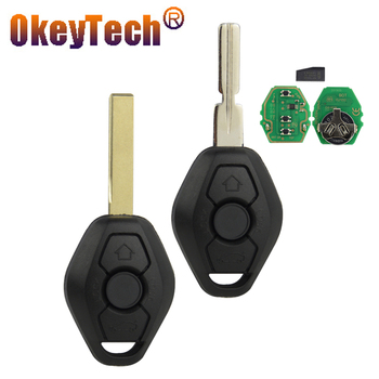 OkeyTech EWS Sytem Car Remote Key for BMW E38 E39 E46 X3 X5 Z3 Z4 1/3/5/7 Series 315/433MHz ID44 Chip Keyless Entry Transmitter image