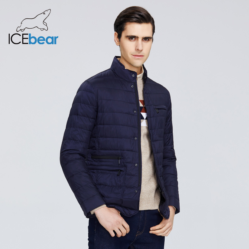 ICEbear 2020 New Men's Jacket Spring Windproof Thin Cotton Men's Jacket Fashion Casual Cropped Jacket Brand Men Jacket MWC20245D title=