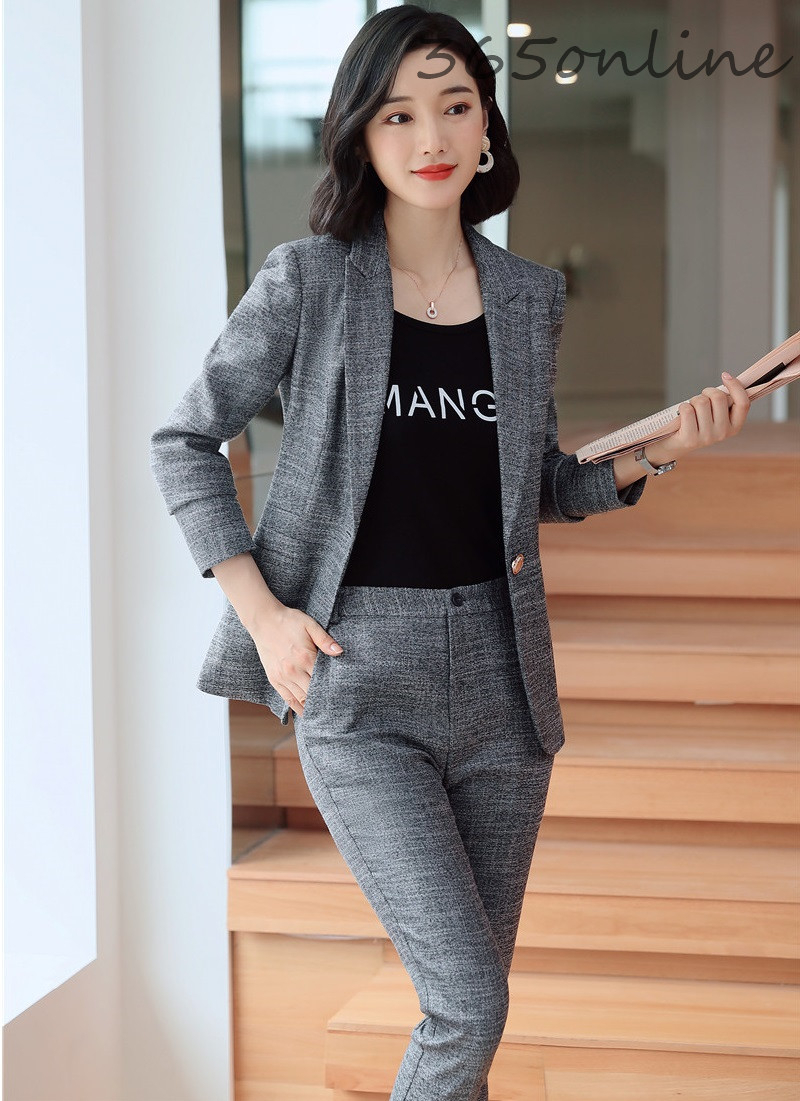 High Quality Fabric Formal Women Business Suits With Pants And Jackets OL Styles Professional Blazers For Ladies Autumn Winter