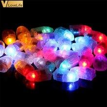 20 шт./лот, светодиодный мини-лампочка, вечерние шары, украшение, последние 3-5 дней, форма пули, две батареи, высокое качество, освещение, белый/слоновая кость/цвет