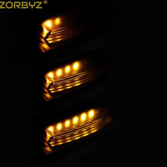 ZORBYZ Motorcycle Black 12V Mini LED Flowing Water Turn Signals Indicator Blinker Light For Honda Yamaha Cafe Racer Custom