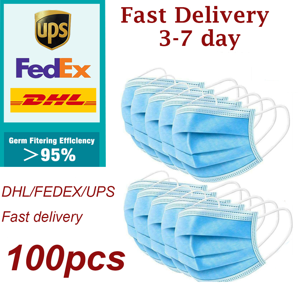 DHL/UPS/FedEx Ship Disposable Face Mouth Masks Safety Protective Face Mouth Surgical Mask Medical Mouth Disposable Protection
